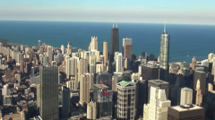 Aerial view of Chicago at a sunny day - stock footage