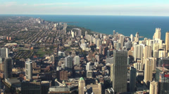 The Skyscrapers of Chicago aerial view Stock Footage