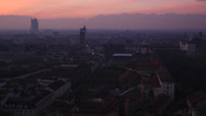 Stock Video Footage of Overlook of Torino city at sunset (eight)