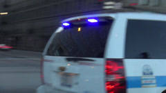 Chicago Police car driving by Stock Footage