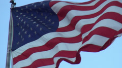 US Flag in the wind Slow Motion - stock footage