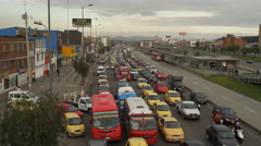 Morning Rush hour Bogota Colombia 008 Stock Footage