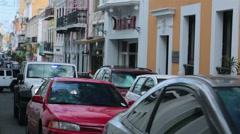 Old San Juan Puerto Rico traffic police Jeep HD 0592 Stock Footage