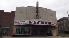 State Theatre in the City of Elizabethtown Kentucky Historic District - stock footage