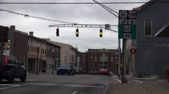 Street Corner City of Elizabethtown Kentucky Historic District Stock Footage