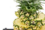Stock Photo of pineapple on white background.
