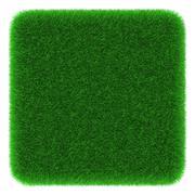 Stock Illustration of grassy cube object