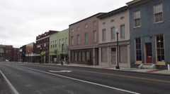 Colorful buldings Shops in the City of Elizabethtown Kentucky Historic District - stock footage