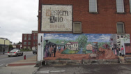 Stock Video Footage of Wall paintings in the City of Elizabethtown Kentucky Historic District