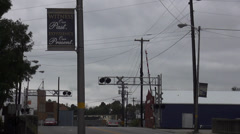 Railroad Crossing in the City of Elizabethtown Kentucky Historic District Stock Footage