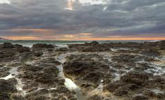 Playa Flamingo Tidal pools - stock photo