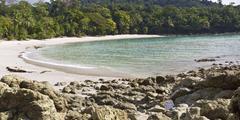 Playa Manuel Antonio rocks and beach Stock Photos