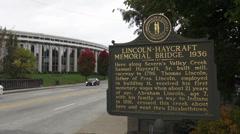 Lincoln Haycraft Memorial Bridge Elizabethtown Kentucky Historic District Stock Footage