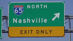 Nashville Huntsville highway signs Interstate 65 Stock Footage