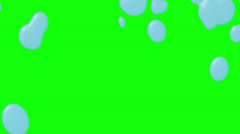 Liquid Wipe Two Green Screen - stock footage