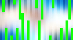 Bars abstract wipe green screen - stock footage
