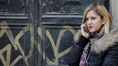 A Serious Conversation on Phone Stock Footage