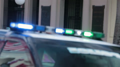 Police car emergency lights blurred OOF HD 0606 Stock Footage