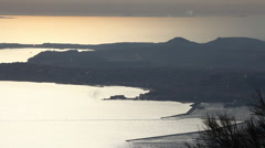 Gulf of Naples from the Vesuvius Volcano, Italy Stock Footage