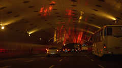 Driving through the tunnel in Rio de Janeiro Stock Footage