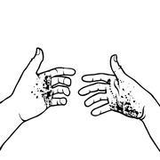 Dirty hands Stock Illustration