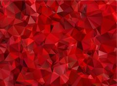 Garnet red abstract background polygon - stock illustration