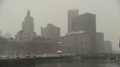 Providence ri in snow Stock Footage