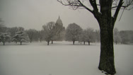 Stock Video Footage of rhode island statehouse in snow