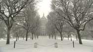 Stock Video Footage of Rhode Island capital in snow