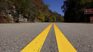 Stock Video Footage of Natchez Trace Parkway long lonesome road