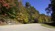 Stock Video Footage of Natchez Trace Parkway Fall Hollow