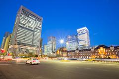 Stock Photo of modern office background at tokyo railway station japan