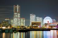 Stock Photo of yokohama skyline night japan