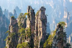 Zhangjiajie national forest park china Stock Photos