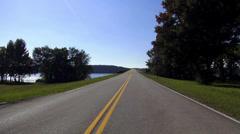 Great view on Natchez Trace Parkway Stock Footage