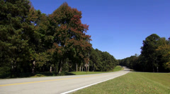 Natchez Trace Parkway on a sunny day Stock Footage