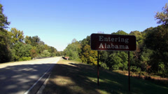 Entering Alabama - stock footage