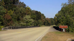 Natchez Trace at Cedar Creek Stock Footage