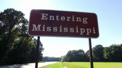 Entering Mississippi - stock footage