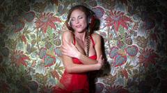 Sexy gogo dancer disco blonde female Stock Footage
