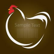 vector image of an hen - stock illustration
