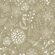 Stock Illustration of vector seamless floral summer  pattern