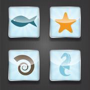 Stock Illustration of 4 shiny icons