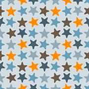 Stock Illustration of vector seamless pattern with starfishes