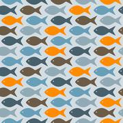 Stock Illustration of vector seamless pattern with fishes