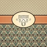 Stock Illustration of vector retro invitation
