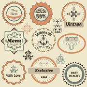 Stock Illustration of vector retro labels