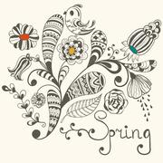 Stock Illustration of spring vector greeting card