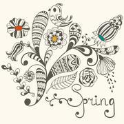 Spring vector greeting card Stock Illustration