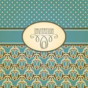 Stock Illustration of vector invitation card